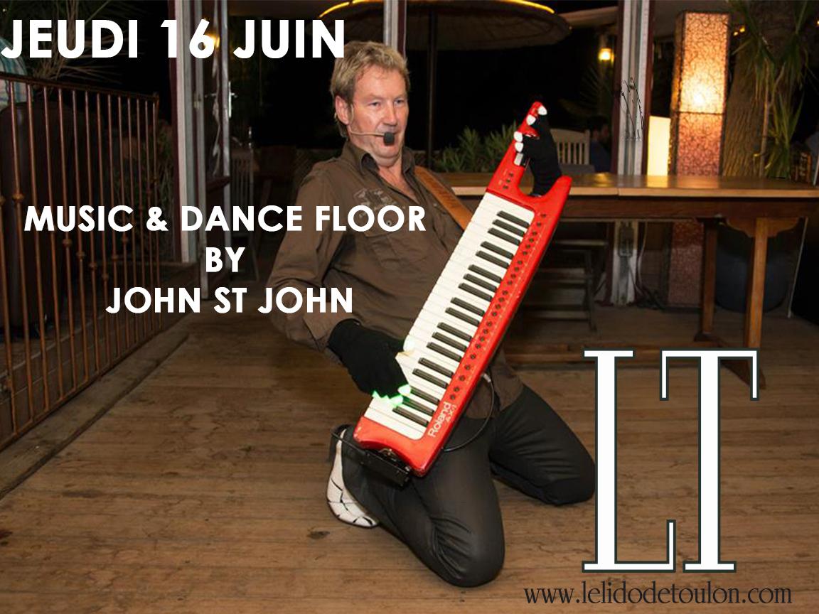 soirée Toulon: John St John music live